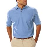 Men's Short Sleeve Teflon Treated Pique Polo Light Blue Thumbnail