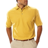 Men's Short Sleeve Teflon Treated Pique Polo Maize Thumbnail