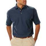Men's Short Sleeve Teflon Treated Pique Polo Navy Thumbnail