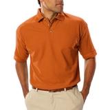 Men's Short Sleeve Teflon Treated Pique Polo Orange Thumbnail