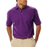 Men's Short Sleeve Teflon Treated Pique Polo Purple Thumbnail