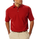 Men's Short Sleeve Teflon Treated Pique Polo Red Thumbnail