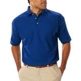 Men's Short Sleeve Teflon Treated Pique Polo Royal Thumbnail