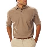 Men's Short Sleeve Teflon Treated Pique Polo Tan Thumbnail