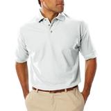 Men's Short Sleeve Teflon Treated Pique Polo White Thumbnail