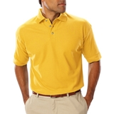 Men's Short Sleeve Teflon Treated Pique Polo Yellow Thumbnail