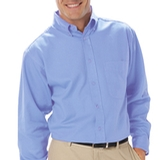 Men's Tall Long Sleeve Easy Care Poplin With Matching Buttons Thumbnail