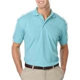 Men's Value Soft Touch Pique Polo Aqua Thumbnail