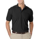 Men's Value Soft Touch Pique Polo Black Thumbnail