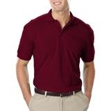 Men's Value Soft Touch Pique Polo Burgundy Thumbnail