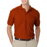 Men's Value Soft Touch Pique Polo Burnt Orange Thumbnail