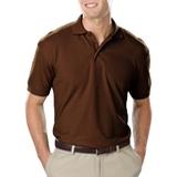 Men's Value Soft Touch Pique Polo Chocolate Thumbnail