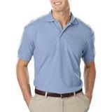 Men's Value Soft Touch Pique Polo Light Blue Thumbnail