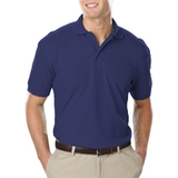 Men's Value Soft Touch Pique Polo Navy Thumbnail