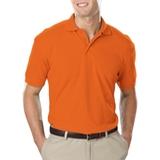 Men's Value Soft Touch Pique Polo Orange Thumbnail