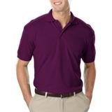 Men's Value Soft Touch Pique Polo Purple Thumbnail