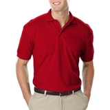 Men's Value Soft Touch Pique Polo Red Thumbnail