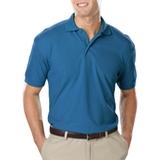 Men's Value Soft Touch Pique Polo Turquoise Thumbnail