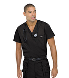 Men's Vented Scrub Top BLACK (BKP) Thumbnail