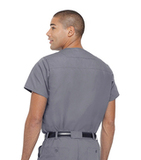 Men's Vented Scrub Top STEEL GREY (STP) Thumbnail