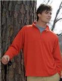 Milestone Men's Poly Ultracool Pique 1/4 Zip Pullover Shirt Rust Thumbnail