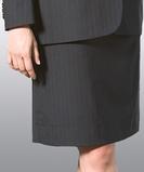 Misses Pinstripe Suit Skirt Navy Thumbnail