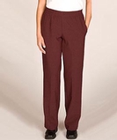Misses Polyester Solid Pant Brown Thumbnail