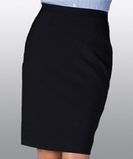 Misses Stretch Straight Skirt Navy Thumbnail