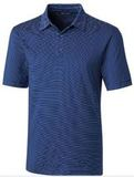 Forge Polo Pencil Stripe Big and Tall Tour Blue Thumbnail