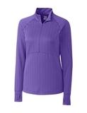 Women's Cutter & Buck DryTec Hamden Jacquard Pullover Valor Thumbnail
