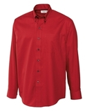 Men's Cutter & Buck Big & Tall Long Sleeve Epic Easy Care Fine Twill Cardinal Red Thumbnail