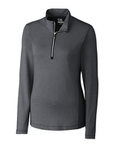 Women's Cutter & Buck Madeline 1/2-Zip Mock Turtleneck Black Thumbnail