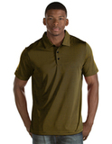Antigua Quest Polo Shirt Black with Gold Thumbnail