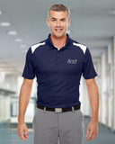 Under Armour Men's Team Colorblock Polo Midnight with White Thumbnail