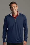 Greg Norman Play Dry -zip Performance Mock Navy Thumbnail