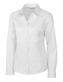 Women's Cutter & Buck Big & Tall Long Sleeve Epic Easy Care Fine Twill White Thumbnail