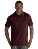 Antigua Quest Polo Shirt Black with Dark Red Thumbnail