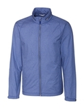 Cutter & Buck Men's Panoramic Packable Wind Jacket Tour Blue Thumbnail