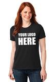 Screenprinted Women's 50/50 Cotton / Poly T-shirt Jet Black Thumbnail
