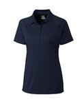 Women's Cutter & Buck DryTec Lacey Polo Shirt Navy Blue Thumbnail