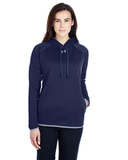 Women's Under Armour Double Threat Armour Fleece Hoodie Midnight Navy Thumbnail