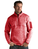 Antigua Men's Fortune Sweater-Knit Half-Zip Dark Red Thumbnail