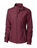 Women's Cutter & Buck WeatherTec Beacon Full Zip Jacket Bordeaux Thumbnail
