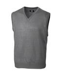 Men's Cutter & Buck Big & Tall Douglas V-neck Vest Midgrey Heather Thumbnail