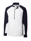 Men's Cutter & Buck WeatherTec Summit Half Zip White Thumbnail