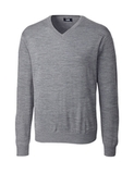 Men's Cutter Buck Big & Tall Douglas V-neck Midgrey Heather Thumbnail
