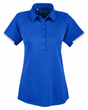 Under Armour Ladies' Corporate Rival Polo Royal Blue with White Thumbnail