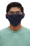 Face Mask Cotton/Poly 2400 piece Case Pack Navy Thumbnail