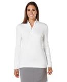 Women's Callaway 1/4-Zip Mock Pullover White Thumbnail