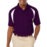 Men's Raglan Wicking Polo Purple Thumbnail